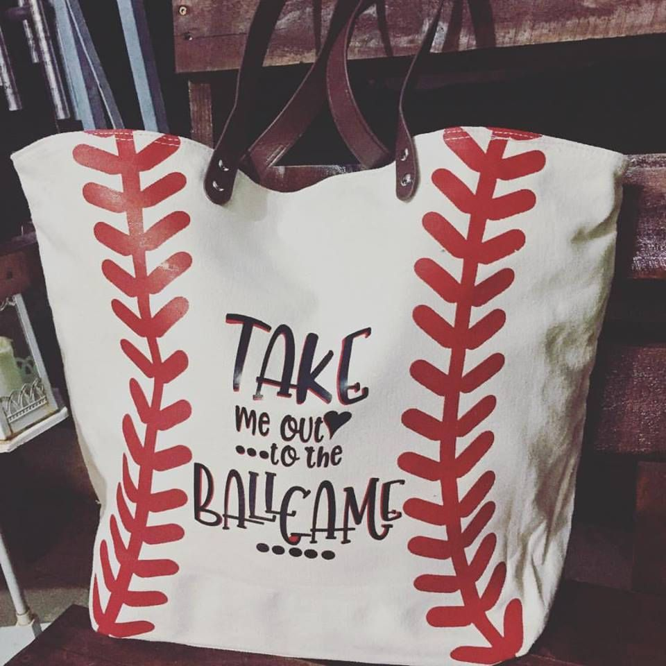 Customizable Canvas Baseball Tote By Lizzybee07 On Etsy Softball Bags Baseball Bag Baseball Tote Bag