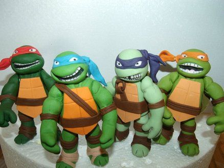 Teenage Mutant Ninja Turtles Fondant Cake Toppers Teenage Mutant Ninja Turtle Cake Teenage Mutant Ninja Turtle Birthday Ninja Turtle Cake