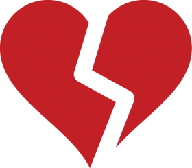 Broken Heart Silhouette Red Broken Heart Png Image With Transparent Background Png Free Png Images Broken Heart Symbol Broken Heart Broken Heart Images