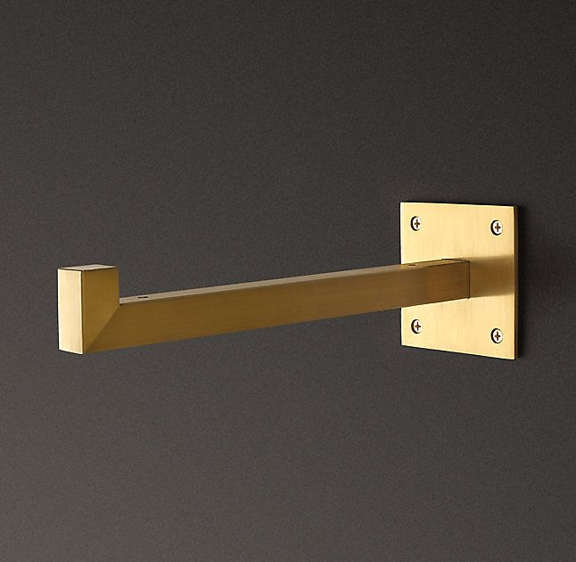 Rh 39 S Square Shelf Bracket Brass Plated Forged From Solid Iron Our Square Brackets Have A Clean Modern Sensibility Regalstutzen Glasregal Regal