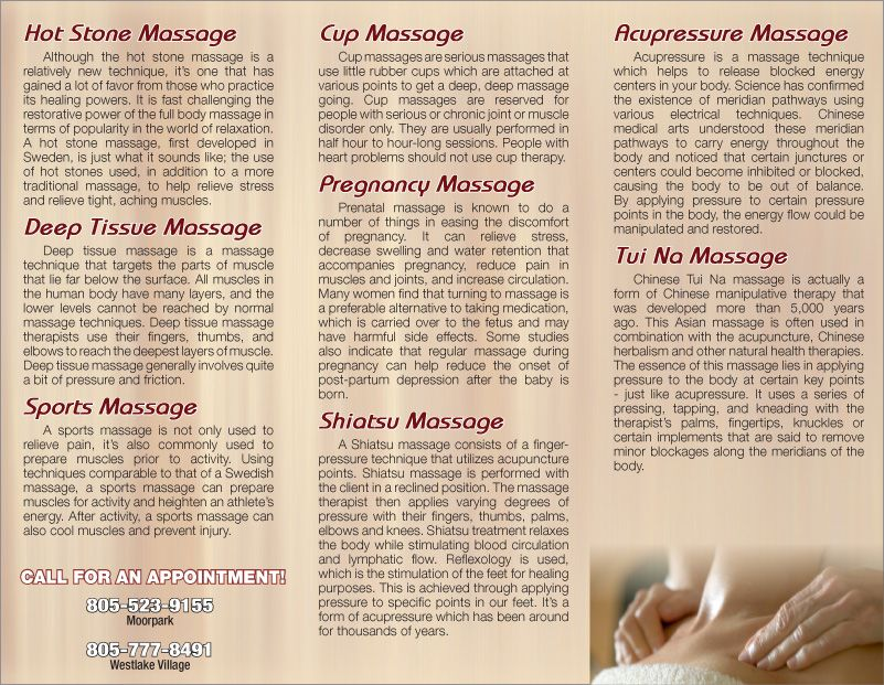 Massage Therapy Brochures