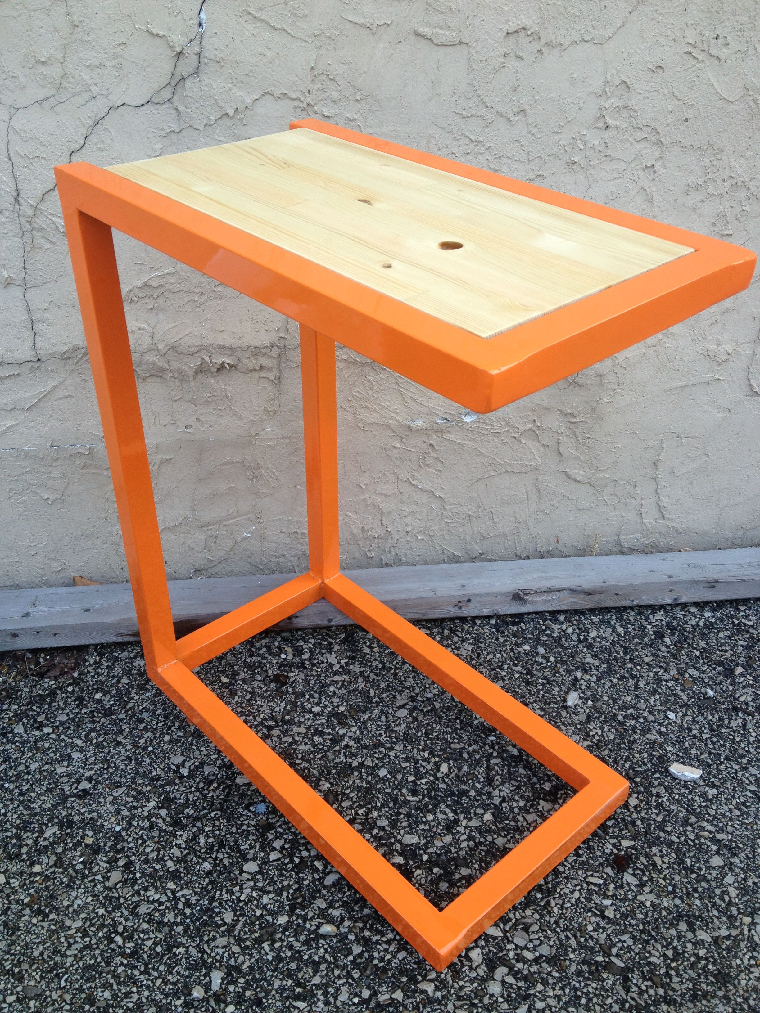Fully Up Recycled Couch Side Table Steel Frame Made From