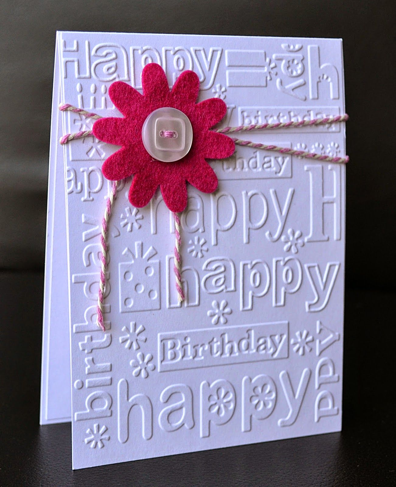 A Little Space Of My Own Embossing Folders Embossed Cards Birthday Cards Diy Handmade Birthday Cards