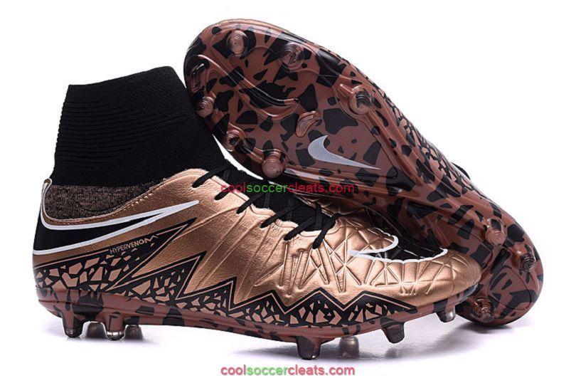 Nike Hypervenom Phantom II FG Outdoor Soccer Cleats Brown Black
