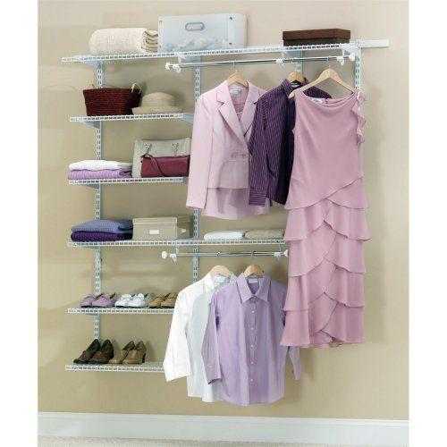 rubbermaid white 3 6 ft deluxe closet kit fg3h8800wht storage u0026 - Rubbermaid Closet Organizer