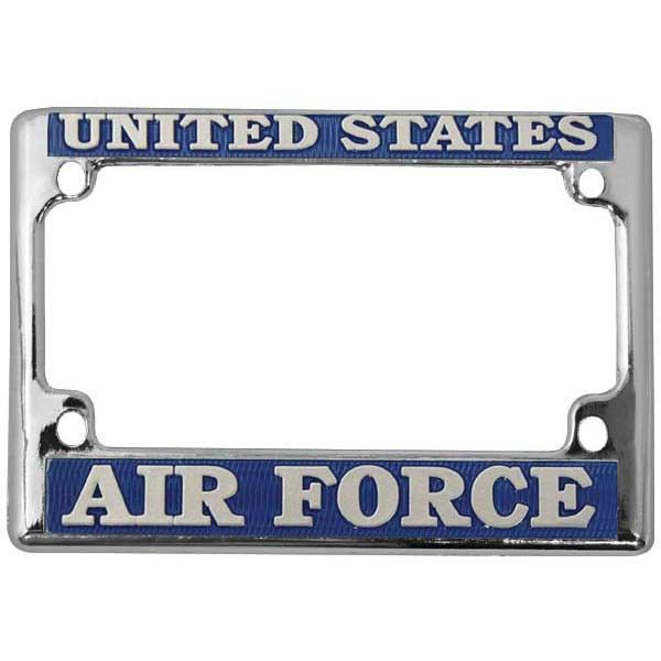 Air Force Motorcycle License Plate Frame Chrome   License plate ...