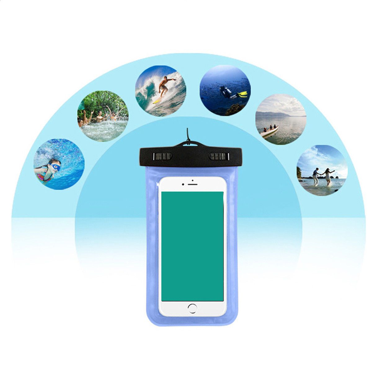 sale retailer cb5ad b0032 $1.68 - Waterproof Phone Case Pvc Anti-Water Pouch Dry Bag Cover For ...