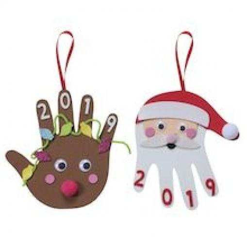 Foam Handprint Kit by Creatology #christmasornaments #christmas #ornaments #handprint