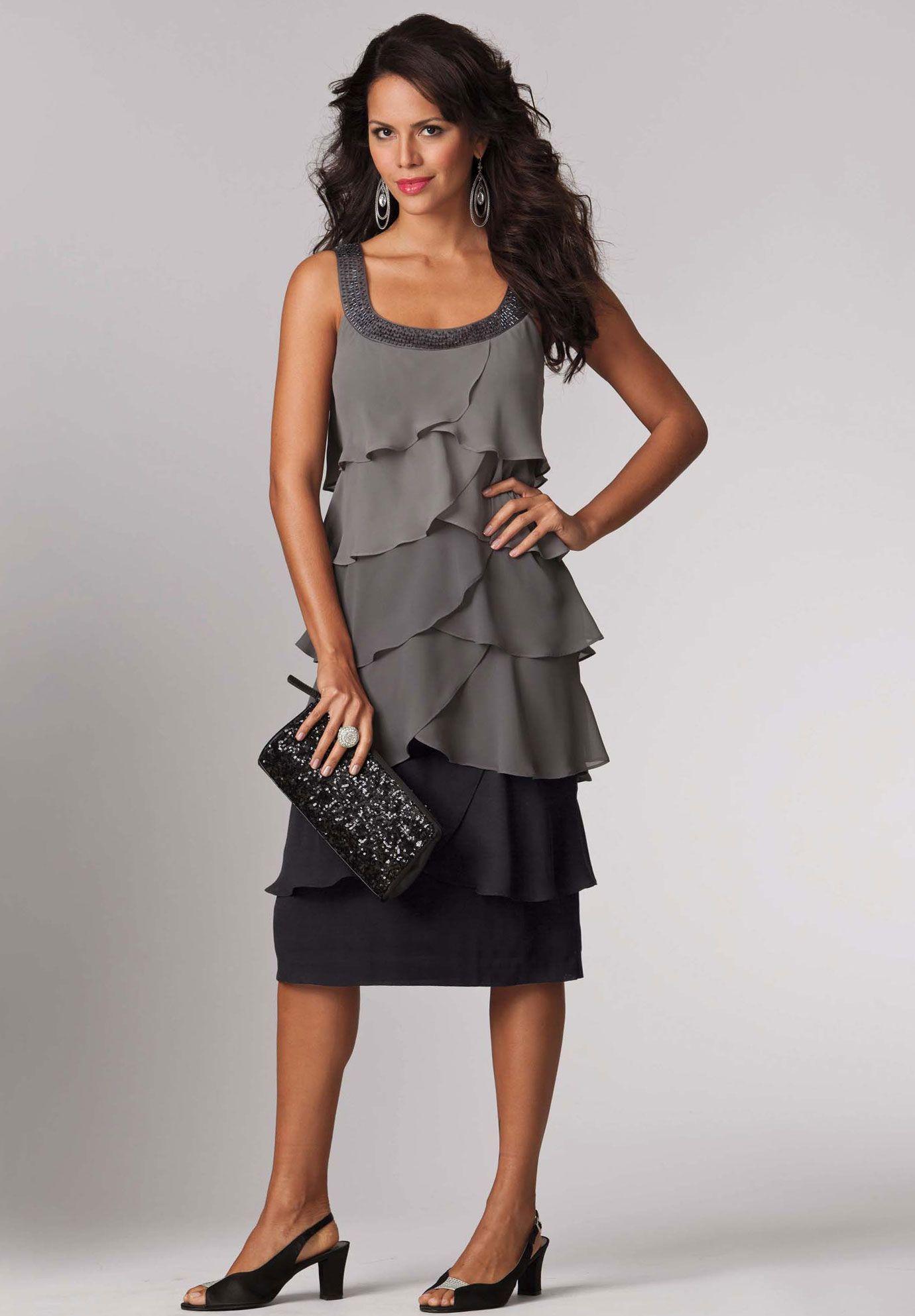 da9cf37c48dcd Plus Size Ombre Tier Dress | Plus Size New Dresses | Roamans ...