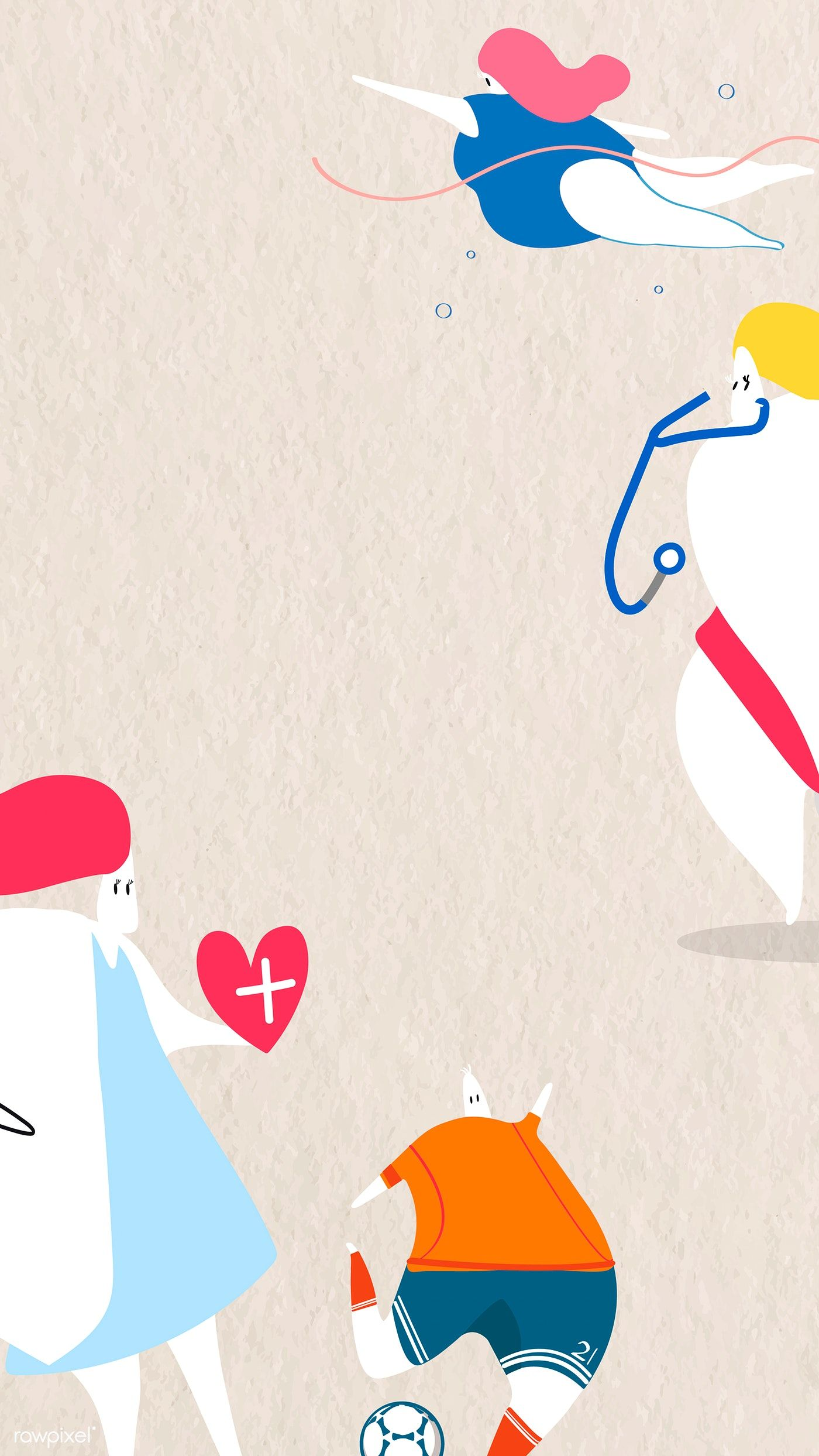 Download premium vector of Doctor and hospital themed