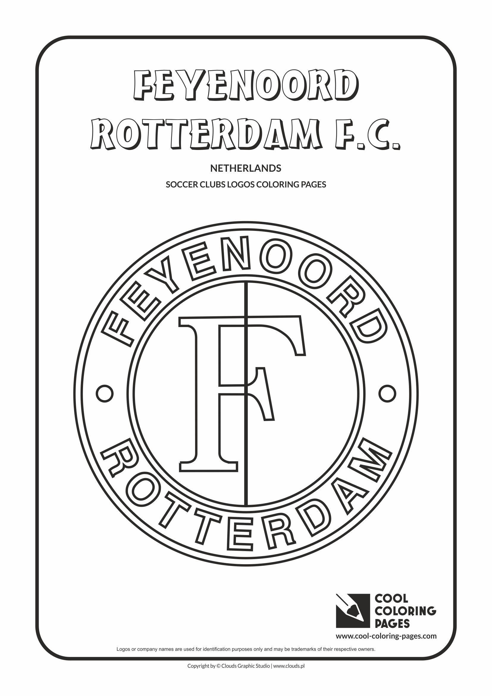 Feyenoord Rotterdam Logo Coloring Page Cool Coloring Pages Coloring Pages Logo Color