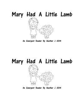 FREE FOR 24 HOURS Nursery Rhyme Emergent Readers Feedback