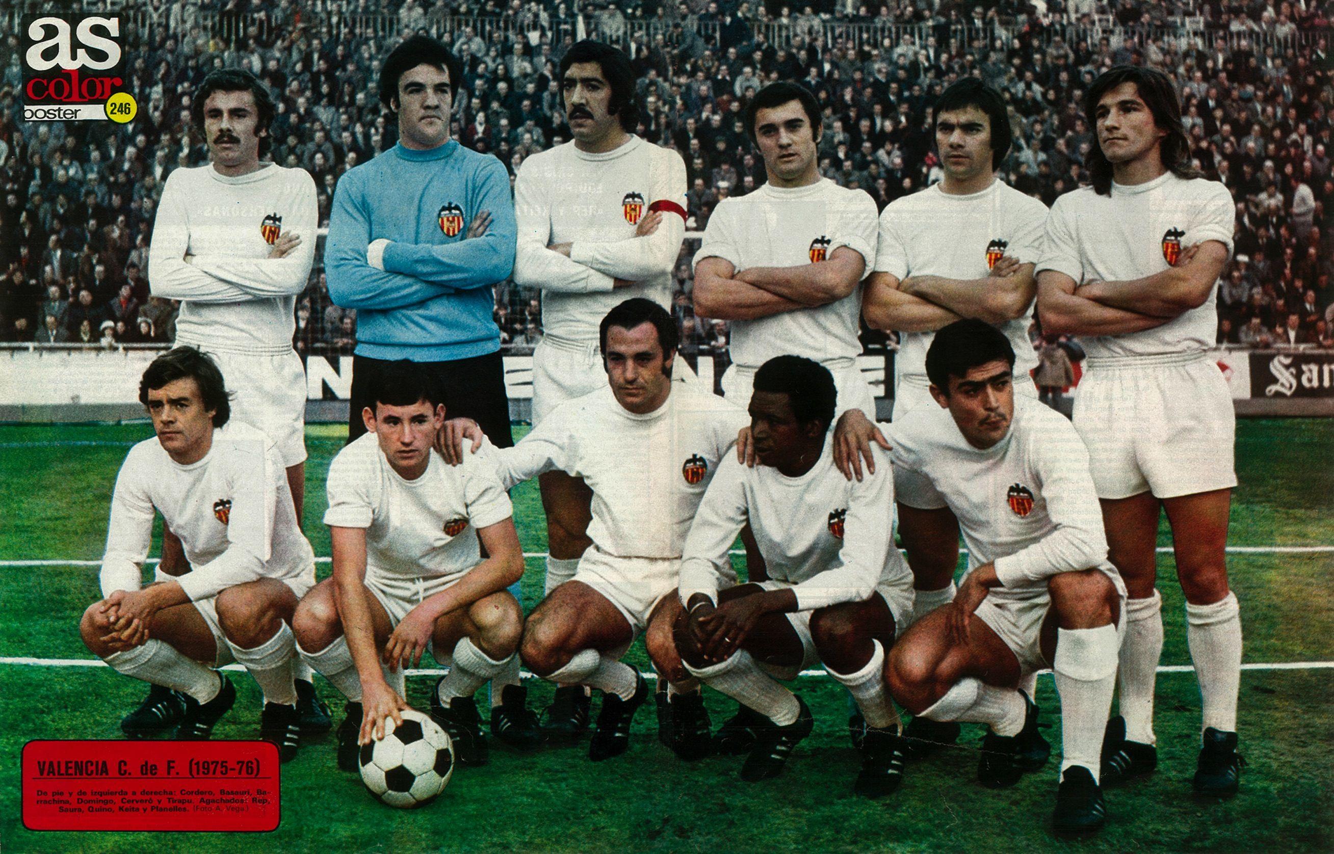 246 - Valencia Club de Fútbol 75-76.  ea38f545782cd