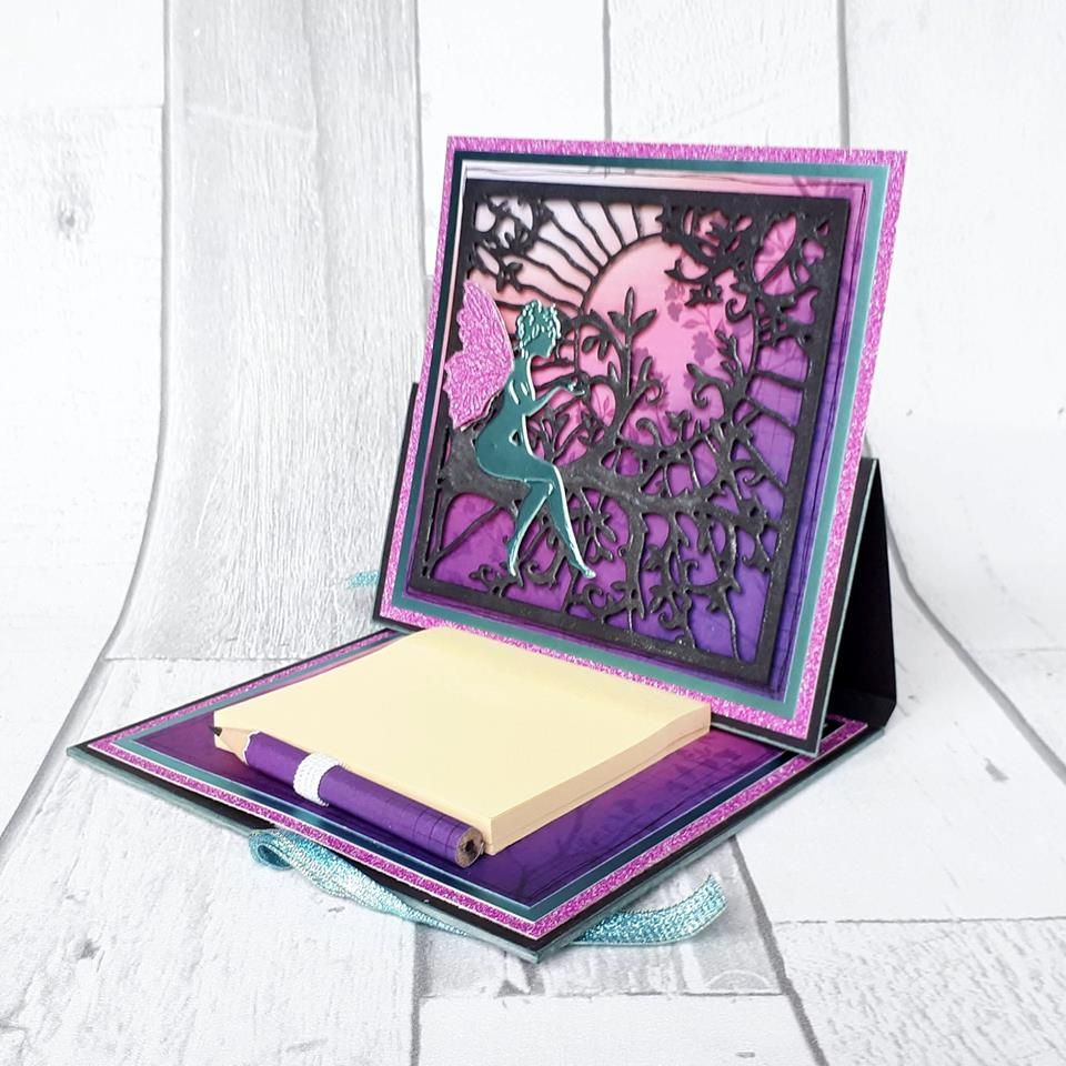Sara Davies Enchanted Forest Signature Collection Luxury Mirror Card