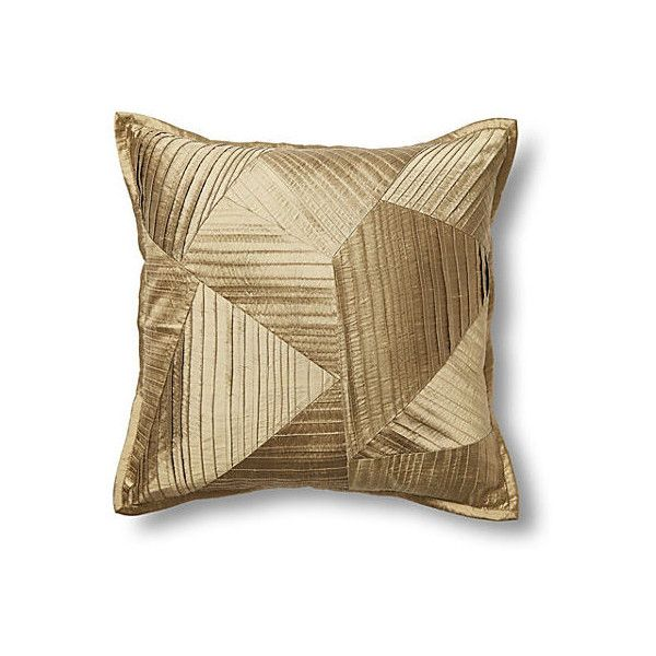 featuring silk liked decorative accent pillow pin polyvore home on gold pleated pillows