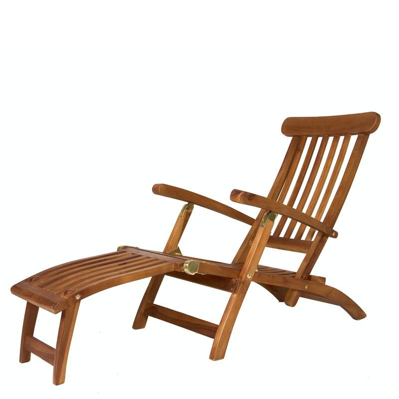 teak steamer chair kids reclining lounge picked up a today 8 18 along with two chaises at an estate sale living people retiring