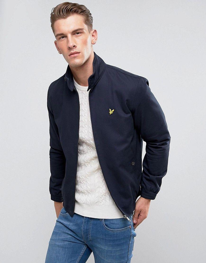 Lyle Scott Harrington Jacket Navy Navy Harrington Jacket Latest Fashion Clothes Mens Jackets [ 1110 x 870 Pixel ]