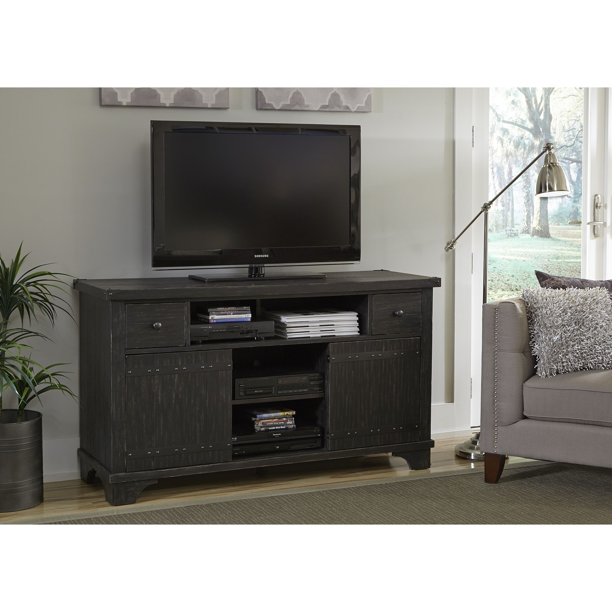 Liberty aspen skies wire brushed black inch tv entertainment