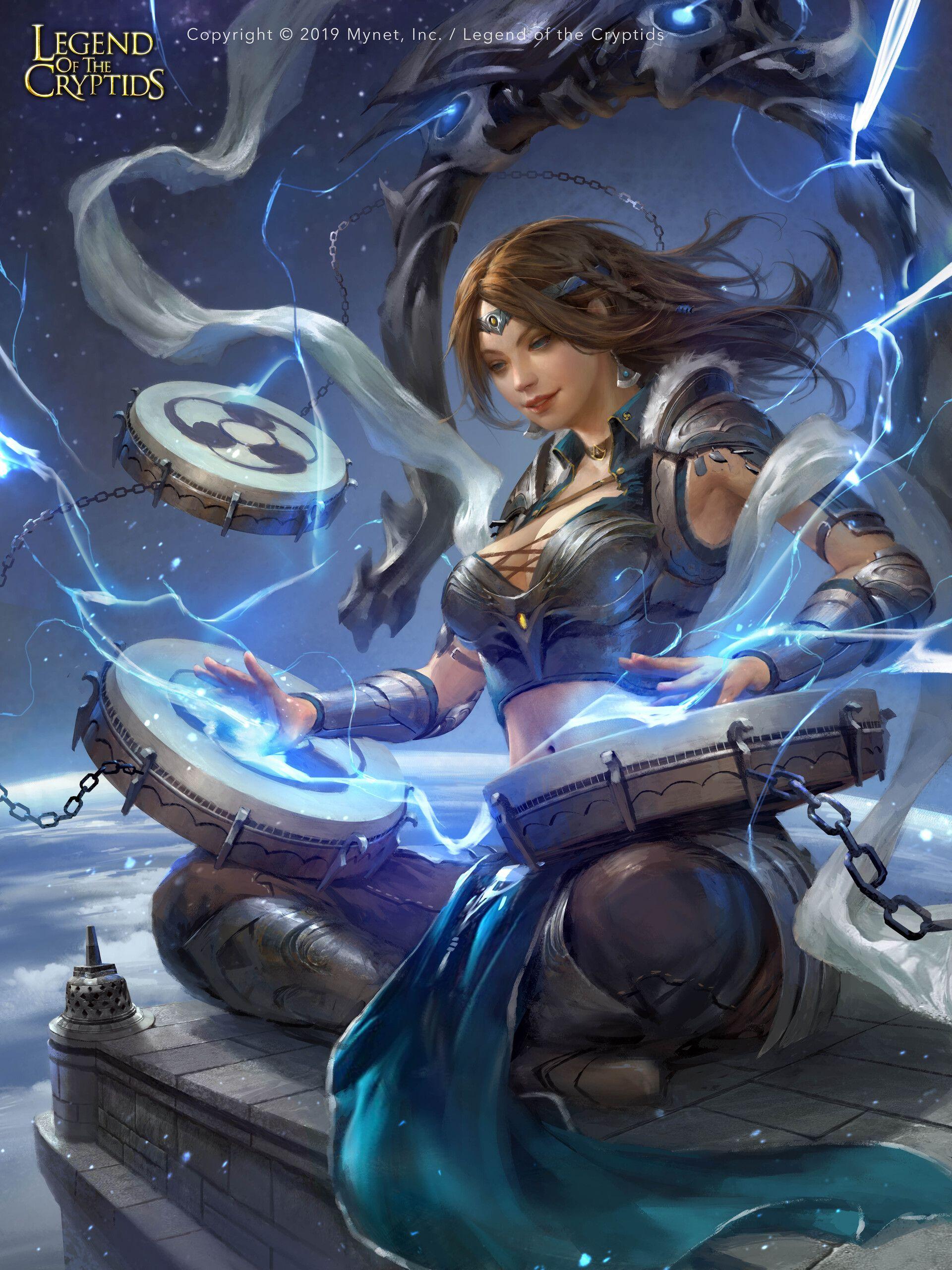 Dark Fantasy Raijin Reg For Legend Of The Cryptids Loc C Mynet Inc Art Of Fajareka Setiawan Pro Fr Dark Fantasy Fantasy Art Women Fantasy Art