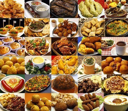 Vasílhas, panos de mesa, comidas...