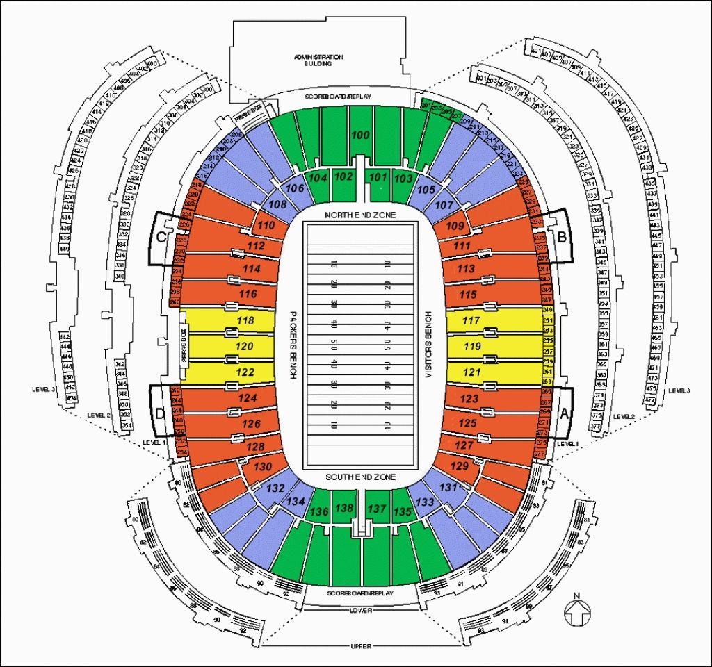 Packer Stadium Seating Chart Di 2020