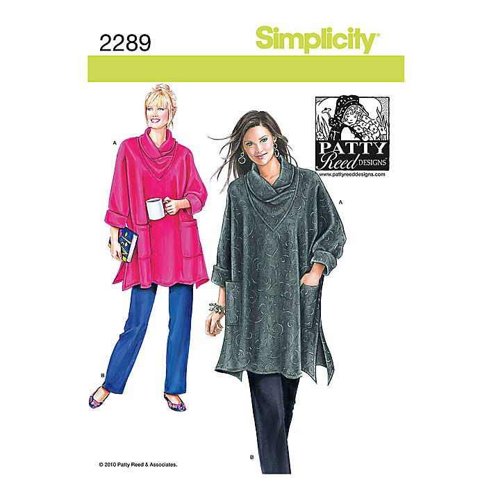 Buy Simplicity Patty Reed Tunic & Trousers Sewing Pattern, 2289 Online at johnlewis.com