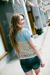 Hannah Tee #crochet #pattern by Vicki Brown