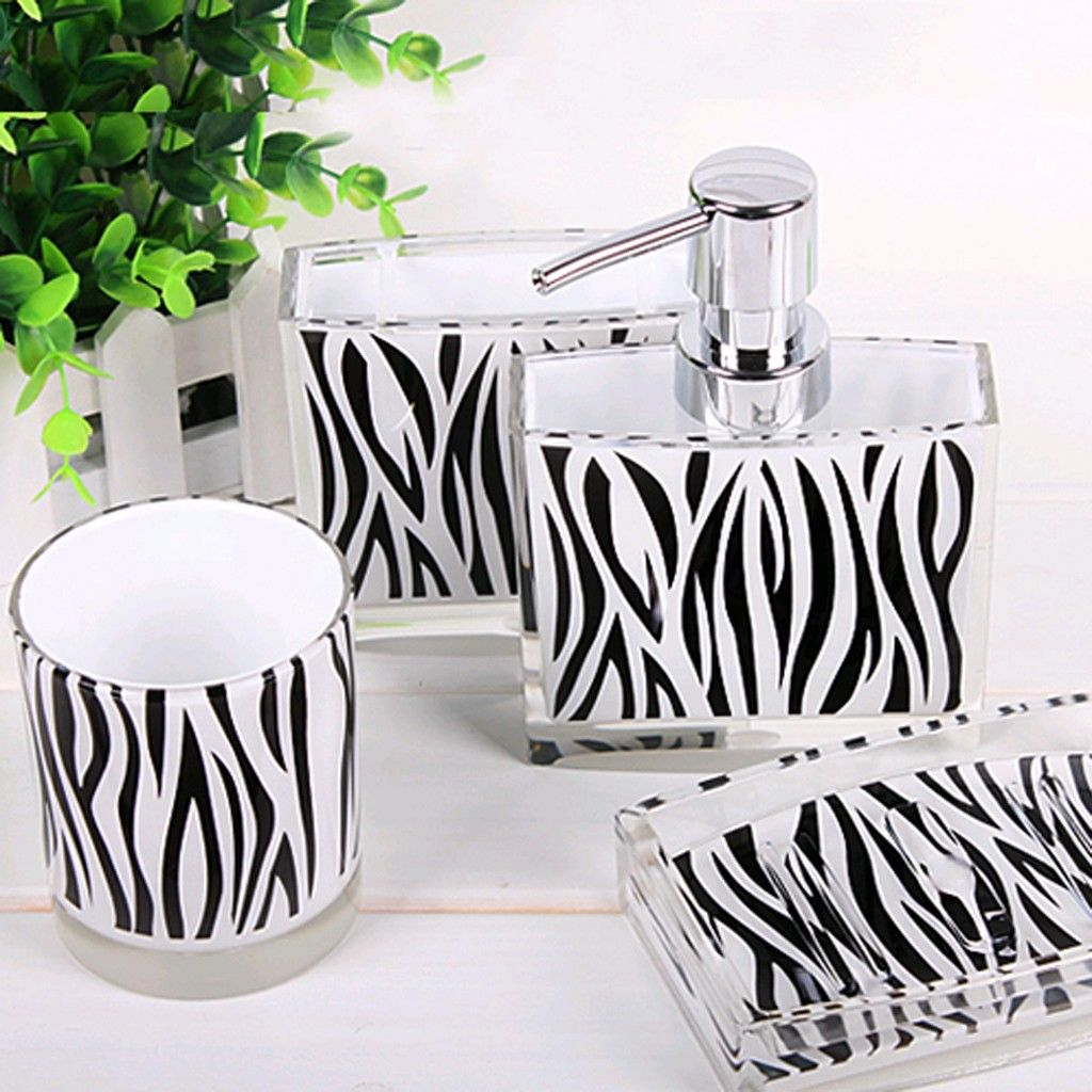 Zebra Bathroom Set | Zebra bathroom, Room and Apartments