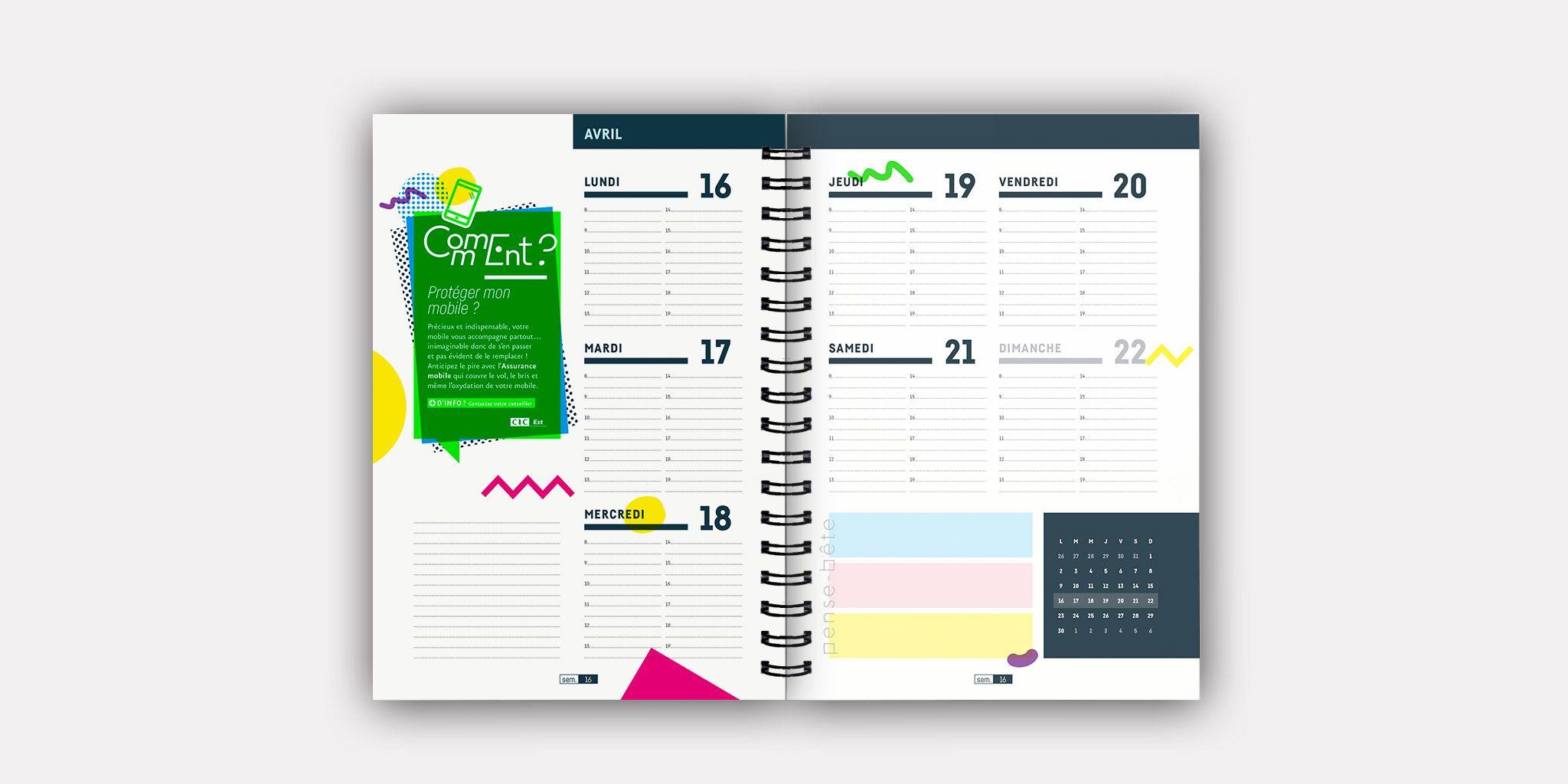 Agenda étudiants CIC-EST - AGENCE TANDEM I Communication & Design graphique
