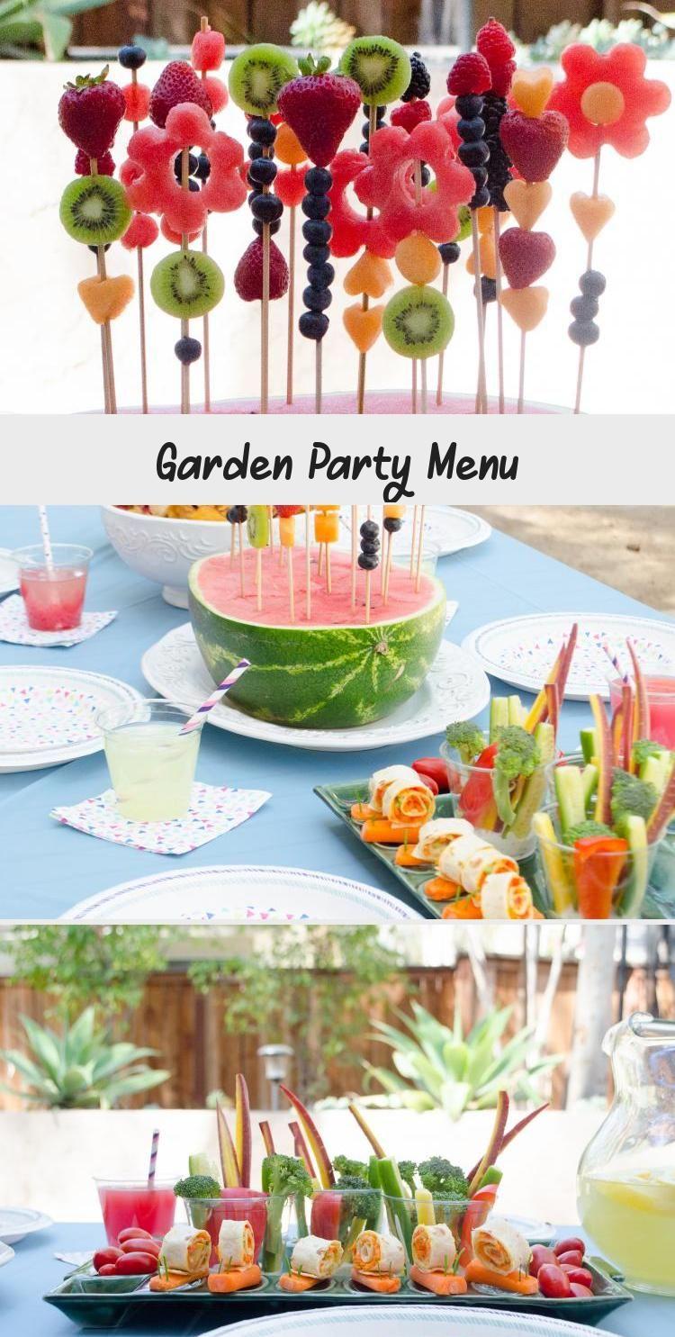 Garden Party Menu From Chefsarahelizabeth Com Gardenpartybackdrop