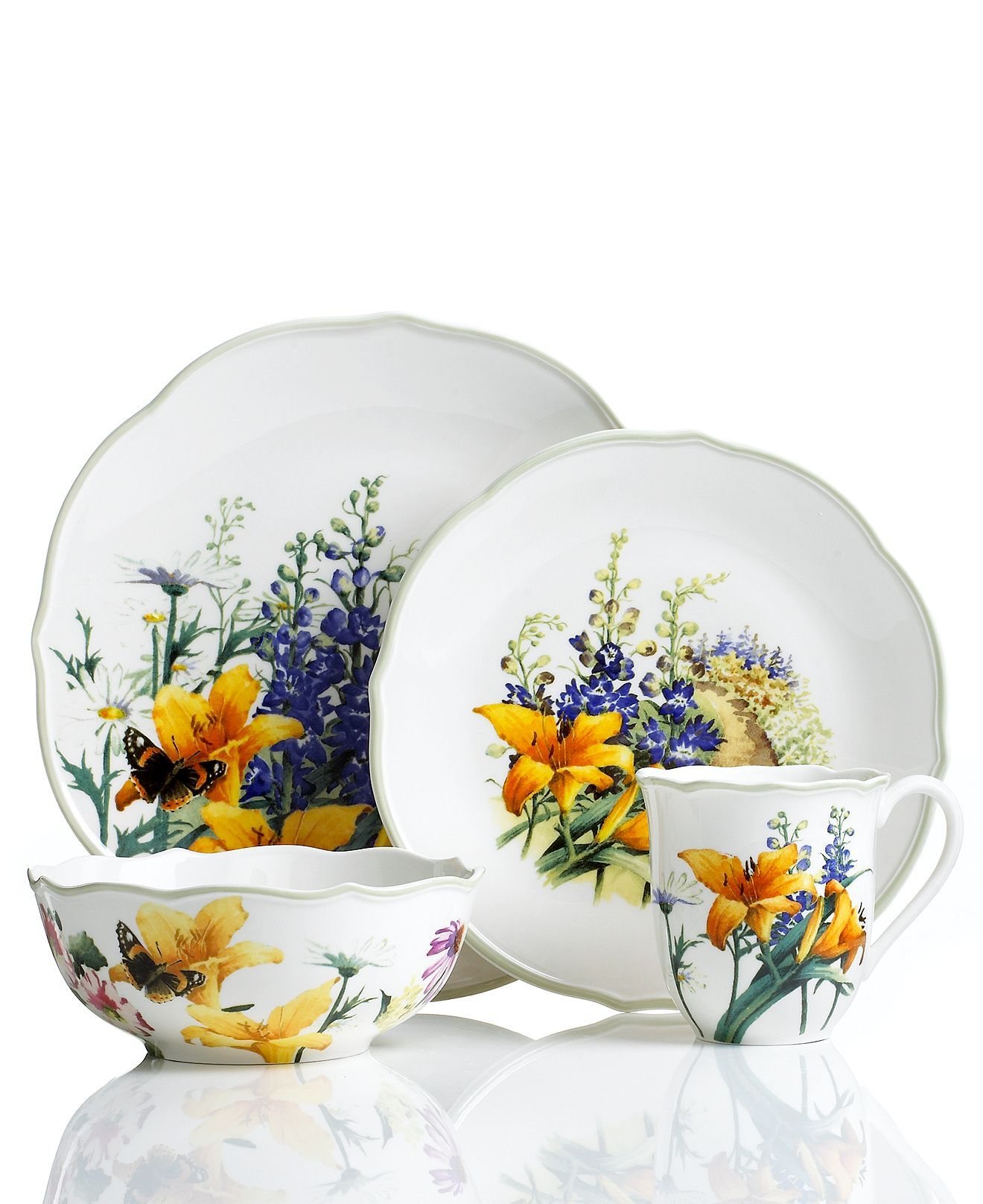 lenox dinnerware floral meadow daylily collection the floral