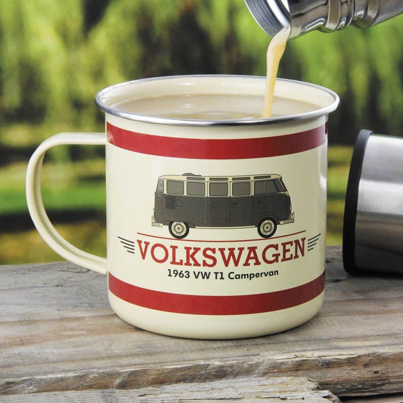 e5de2128 Volkswagen Campervan Enamel Mug | Mug | Mugs, Campervan, Volkswagen