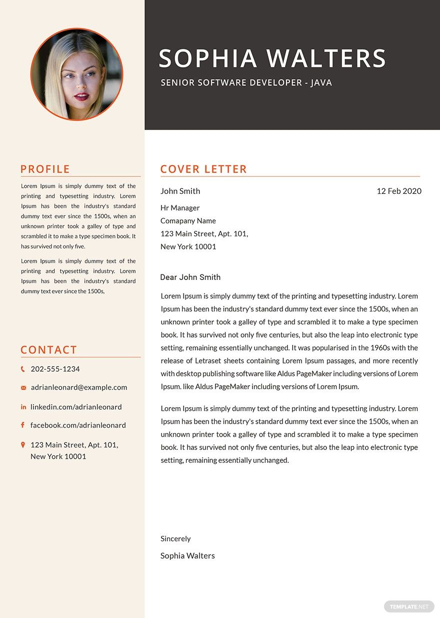 Free Senior Java Developer Resume Resume design template