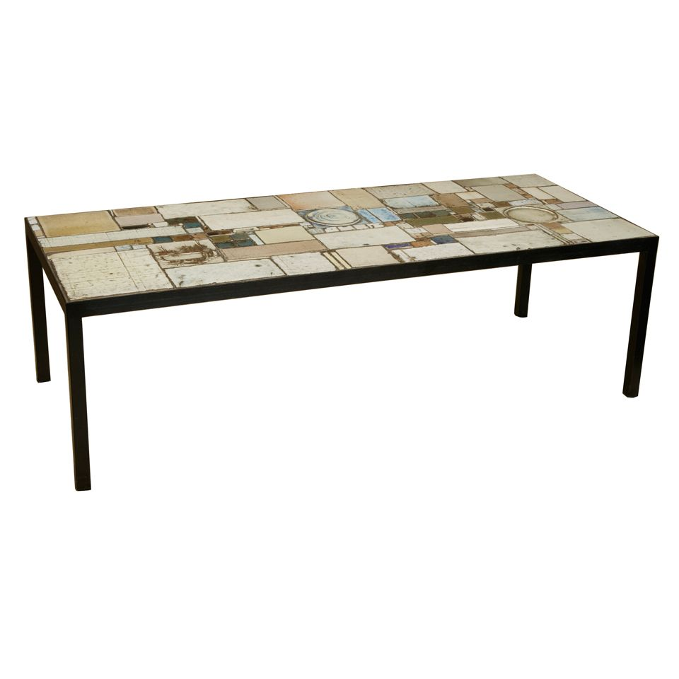 Ceramic tile coffee table by pia manu coffee tables for Tile coffee table