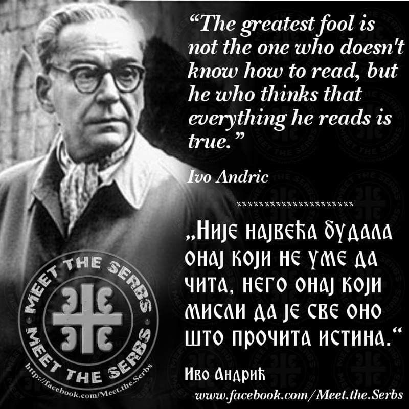 #IvoAndrić | Serbian quotes, Wise words quotes ...