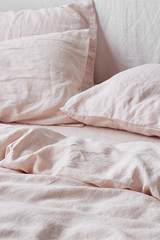 Best Beautiful Blush French Linen Bedding Perfect To Brighten 400 x 300