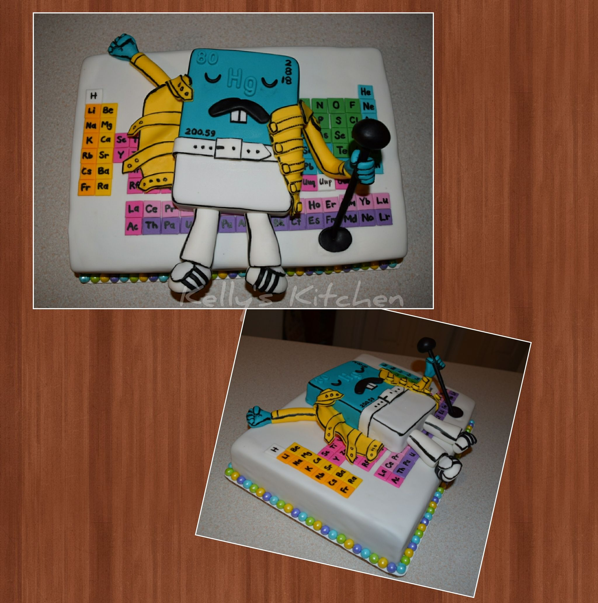 Freddie Mercury cake based on the Threadless tshirt