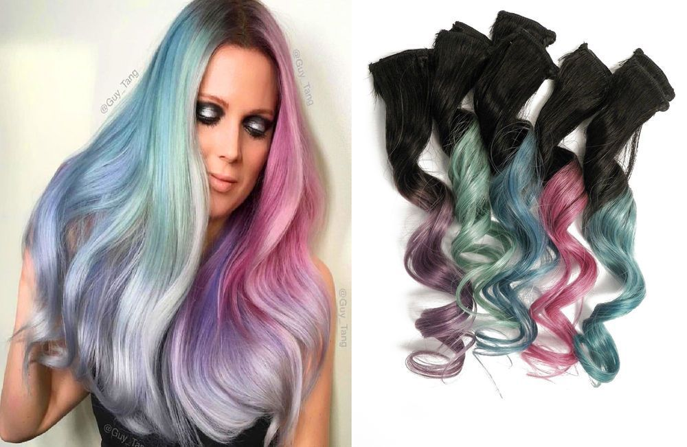 10x Clip In Dark Root Ombre Hair Extensions Inspired By Guy Tang