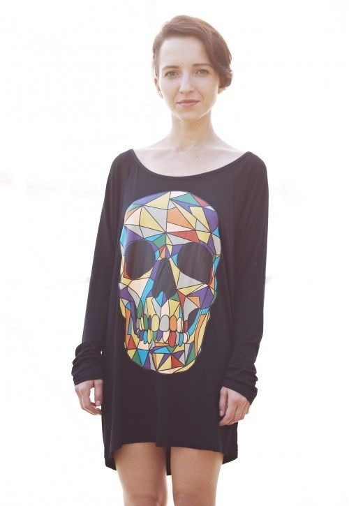 Cotton Top With Skull Print