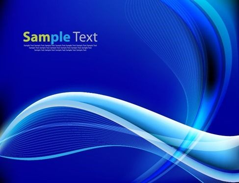 Blue Abstract Design Waves Background Vector Graphic Blue