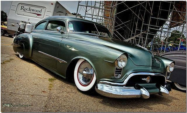 1950u0027s oldsmobile coupe laid out dropped slammed on white wall tires a mint