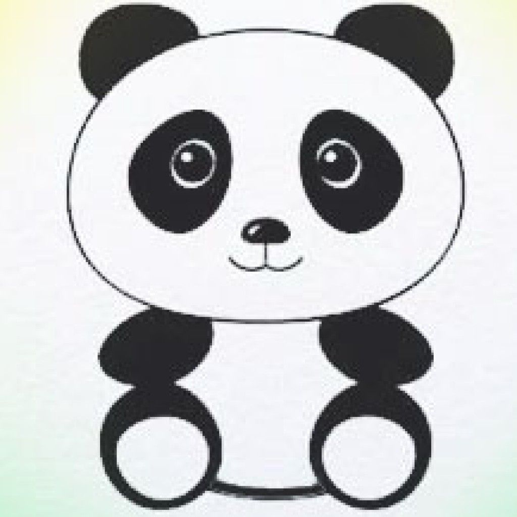 How To Draw Panda Let It Snow Panda Drawing Panda Art Cute