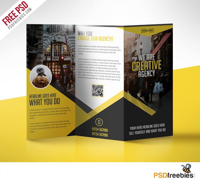 Multipurpose Trifold Business Brochure Free PSD Template - free brochure design templates word