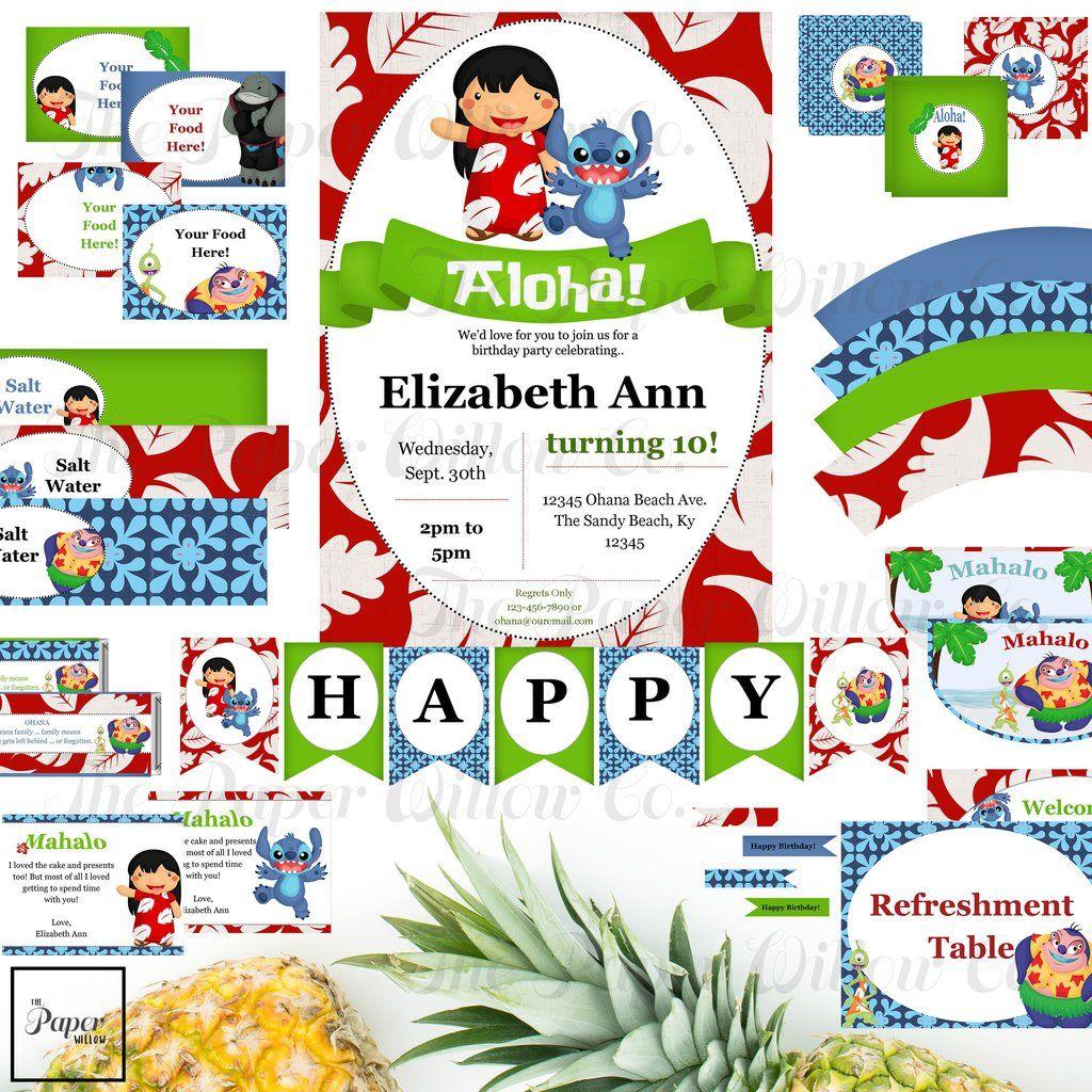 Stitch and Lilo-Birthday Sets | Stitch