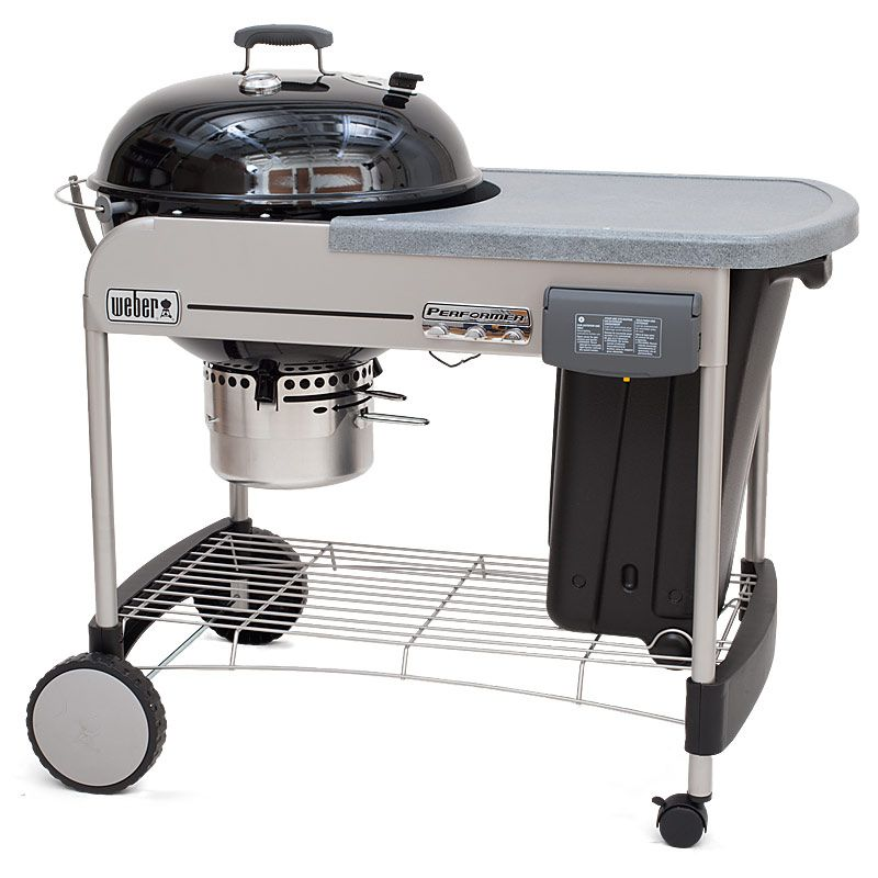 Weber Performer Platinum 22 5 Inch Charcoal Grill With Touch N Go Gas Ignition Cook S Illustrated Best Charcoal Grill Weber Charcoal Grill Charcoal Grill