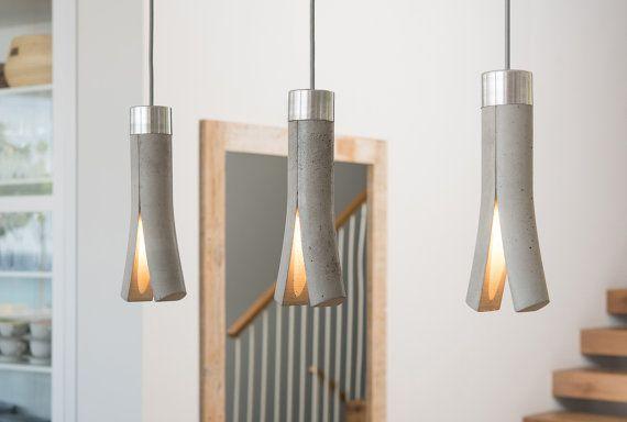 Split Concrete Pendant Lamp Dining Table Light Counter Top Lamp Bedside Lamp Romantic Light Concrete Light Concrete Pendant Lamp Concrete Lamp