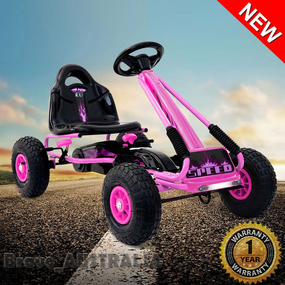 Kids Pedal Powered GO KART Racing Cart Ride on Toy Car