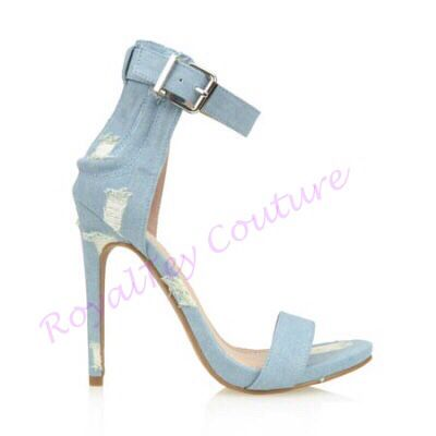Light Blue Denim Stylish Sandal #sandal #denimsandal #denim #denimshoe #shoe #royaltey