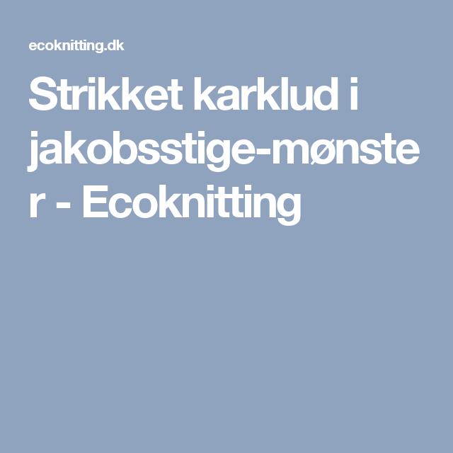 Photo of Strikket skjerf i kamskjellmønster – Ecoknitting