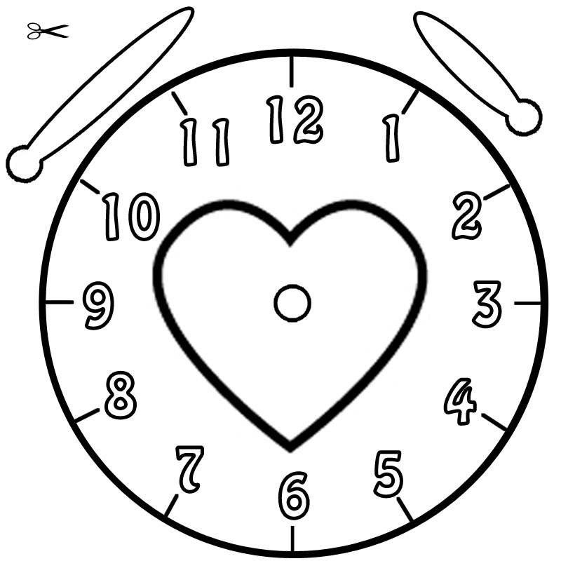 Vorlage Uhr Herz 233 Malvorlage Uhr Ausmalbilder Kostenlos, Vorlage ...